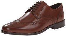 Nunn Bush Nelson Comfort Gel Men's Brown Oxford Leather Shoes 84525-200