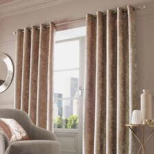 Rideaux et cantonnières beige avec anneau supérieur en polyester pour la maison