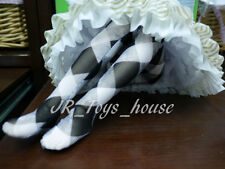 Black & White Check Lace Stockings fits Volks MSD MDD Mini Dollfie Dream 1/4 BJD