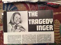 m12n ephemera 1970 film article actress the tragedy of inger stevens