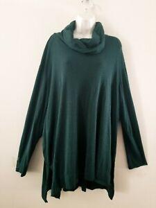 J. Jill L/S Easywear Pima Cotton Cowl-neck Pullover Tunic Top Sz 3X