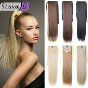 Remeehi High Ponytail Clip-in 100% Remy Human Hair Drawstring Hair Extensions