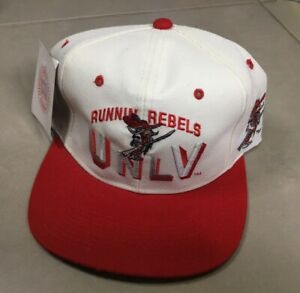 NWT Vintage 80s UNLV Runnin Rebels Sports Specialties Style NCAA Snapback Hat