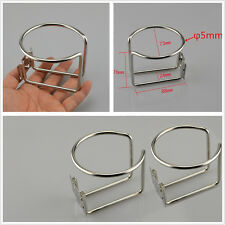One Pair High Quality Stainless Steel Car SUV Ring Cups Drink Holder Support Kit