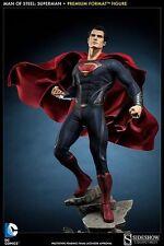 SIDESHOW DC MAN OF STEEL SUPERMAN PREMIUM FORMAT FIGURE STATUE~BRAND NEW~