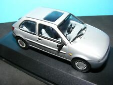 Ford Fiesta  in Silver with Blue/Grey interior Glass Sunroof Minichamp  1:43 NLA