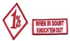 OUTLAW BIKER RIDER 666 SUPPORT YOUR LOCAL 81 MC HOG 2-TAB: 1%er + KNOCK 'EM OUT