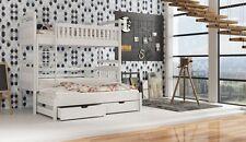 Etagenbett Kinderbett Hochbett ADA Stockbett mit Matratzen 90x200 ÖKO lackiert