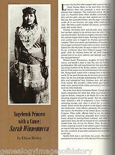 Sarah Winnemucca - The Sagebrush Princess + Genealogy