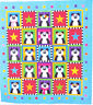 SALE - Panda Party - cute pieced and applique quilt PATTERN - Me & My Red Boots