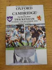 12/12/1995 Rugby Union Programme: Oxford v Cambridge [At Twickenham]. Item in ve