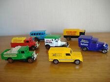 7 VINTAGE CORGI DIECAST DELIVERY VEHICLES / TOY CARS / COMMERCIAL VEHICLES
