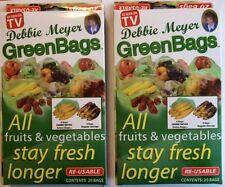 Debbie Meyer Green Bags - Fruit & Vegetable Storage Bags - 40 Bags ( 2 Boxe
