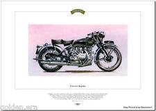 VINCENT RAPIDE Motorcycle Fine Art Print  - Classic 1000cc Motorbike HRD B model