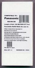 2-pack of KX-FA136 Fax Refills for Panasonic KX-F1010 KX-F1015 KX-F1016 KX-F1110