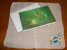 Vintage Morning Glory Hanky & Spirit of the Night Card