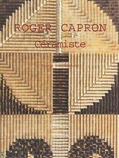 Roger Capron céramiste, livre de Pierre Staudenmeyer