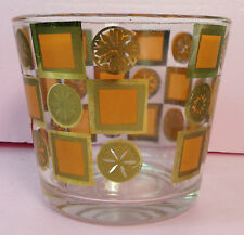 Vintage Orange Clear Giant Shot Glass style candy dish vase bowls Punch Round