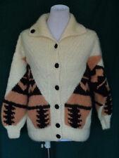 Vintage Hand Knit Indian Pattern Cream Sweater
