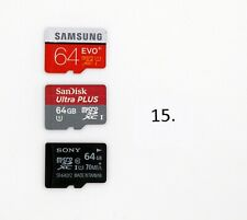 Micro SD SDXC Card 64gb Samsung Sandisk Ultra Plus SONY Lot of 3  Total 192gb