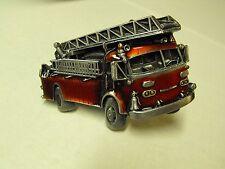 """🔥🚒 VINTAGE 1978 FIRE TRUCK 3"""" ENAMELED BELT BUCKLE BY BERGAMOT BRASS WORKS 🔥"""