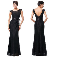Mermaid Lace Evening Prom Party Gown Ball Formal Wedding Bridesmaid Long Dress