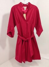 VERTICO PARIS WOMEN'S SHORT TRENCH COAT POMEGRANATE XS NWT $370