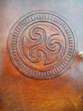 Pagan Wicca TRISKELE Handmade Leather Journal Book of Shadows Grimoire Diary