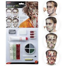 Liquid Latex Horror Blood Dead Zombie SFX Makeup Accessory Kit Set Mens Womens