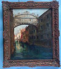 Peinture huile soupir pont ponte dei sospiri venise venezia ITALY Conrad Hommel ~ 20