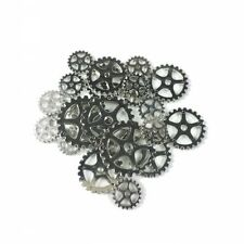*NEW* STEAMPUNK METALIZED PLASTIC GEARS SHINY SILVER