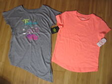 new LOT of 2 t-shirt girl 14-16 1x crew neck & 1x side tie top (lot2)