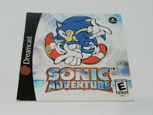 Sonic Adventure Sega Dreamcast Game Manual Booklet Instructions