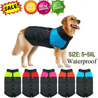 Waterproof Pet Dog Warm Padded Vest Coat Clothes Soft Winter Jacket Apparel