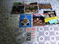 8 Football Programmes West Ham v Tottenham v Athletic v Leeds v Crystal P v Brig