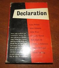 DECLARATION Britain's Angry Young Men Edited by Tom Maschler Dutton 1958 First E