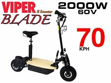 Electric Scooter 2000W 60V Viper Blade New 2017 Model, Terrain Tyres, 70KPH. CE