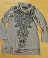 COSIMA by No1 Stretch Long Shirt / Tunika Gr. 40-42 grau