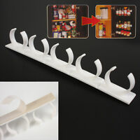 20 Clip Kitchen Spice Gripper Strip Jar Rack Storage Holder Wall Cabinet Door
