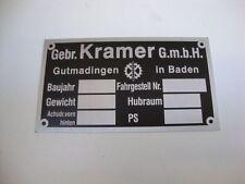 TYPENSCHILD  KRAMER