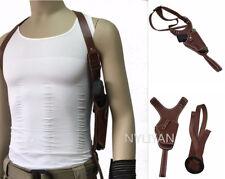 Tactical Leather Hidden Underarm Shoulder Pouch Bag Pistol Gun Armpit Holster