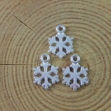 Bright Silver Snowflake Shaped Alloy Pendant Charms Findings Craft 98x 15*11*1mm