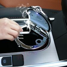 Car Stainless Steel Cigarette Box Ash Tray Ashtray Can Smokeless Cup Holder Jar