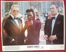 James Bond A VIEW TO A KILL Christopher Walken & Grace Jones 8x10 Official Photo