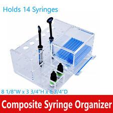 Dental Composite Multipurpose Composite Syringe Organizer Holds 14 Syringes
