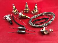 Guitar Upgrade wiring Kit Fits Gibson Les Paul Long Shaft Pots Switch PIO Caps