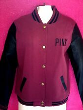 NWT VICTORIA'S SECRET PINK  COLLECTION BLACK & BURGUNDY JACKET SIZE SMALL