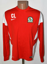 BLACKBURN ROVERS 2013/2014 TRAINING HOODED TOP JERSEY NIKE SIZE L ADULT