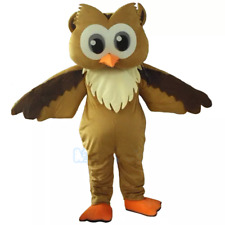 Professional Brown Owl Mascot Costume Suit Party game Fancy Dress Parade Adults