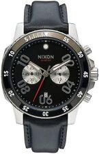 Nixon Ranger Chrono Leather Watch Black NEW in box